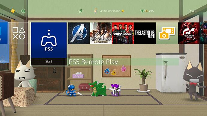 You can play PS5 games on PS4 using a DualShock via Remote Play
