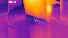 The bottom of the unit is very, very cool - essentially at room temperature or just a touch higher.