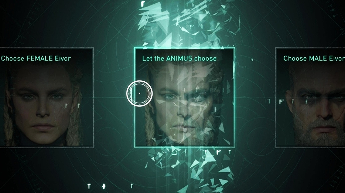 """Here's the deal with Assassin's Creed Valhalla's unique """"Animus decides"""" character choice"""