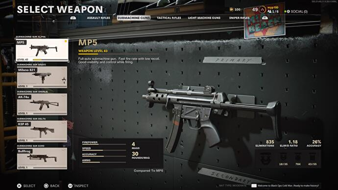 Treyarch nerfs Call of Duty: Black Ops Cold War's overpowered MP5 just days after launch