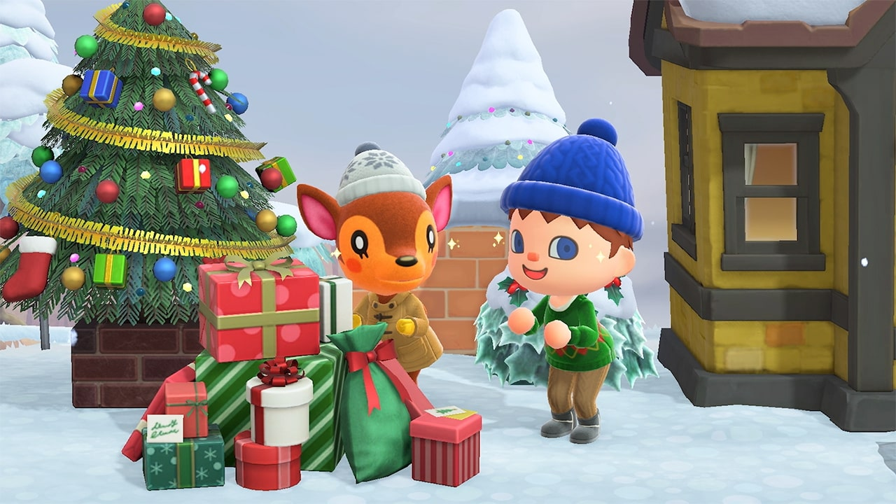 Christmas and New Year in Animal Crossing