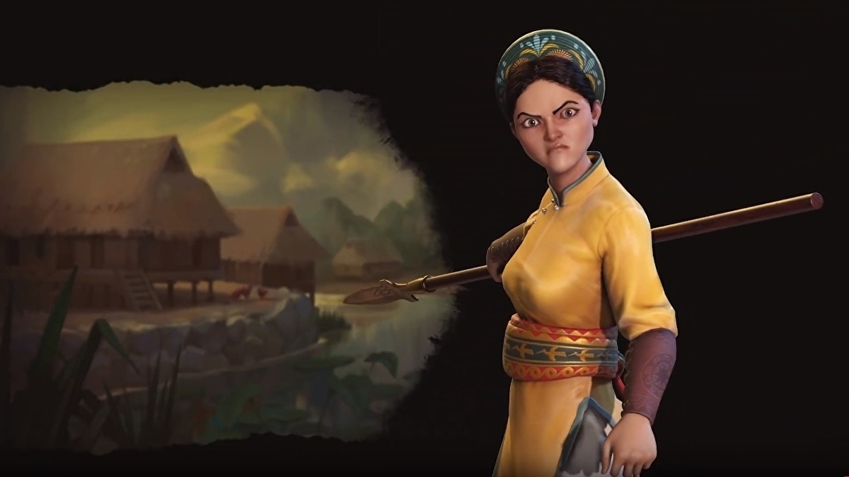 First look at Vietnam and its leader Lady Triệu in Civilization 6