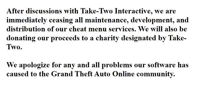 "Prominent GTA Online cheat website shuts down ""after discussions with Take-Two"""