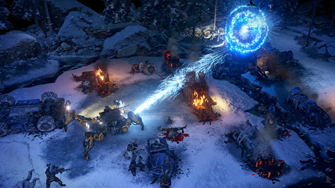 Explosive Wasteland 3 gameplay in a snowy environment