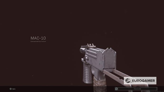 MAC-10 over-shoulder view