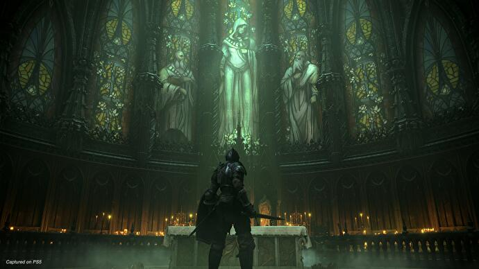 A quiet moment in a church in Demon's Souls