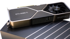 This is a two-slot design, with Nvidia's 'dual axial flow through' design that places a fan on each side.