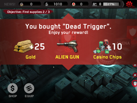 Dead Trigger Cheats Ipad
