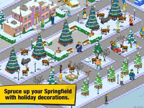 The Simpsons: Tapped Out Holiday Update Adds Barney, Sideshow Mel And