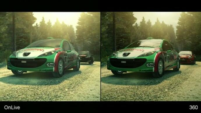 DiRT 3: OnLive/Xbox 360 Face-OffVideo