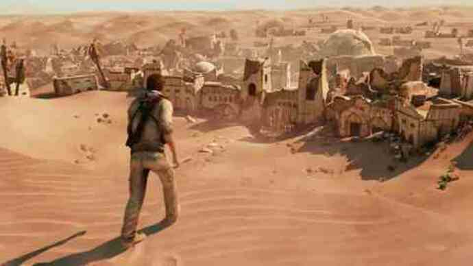 Uncharted 3 desert gameplay footage