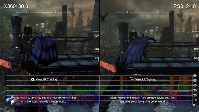 Batman: Arkham City performance analysis video