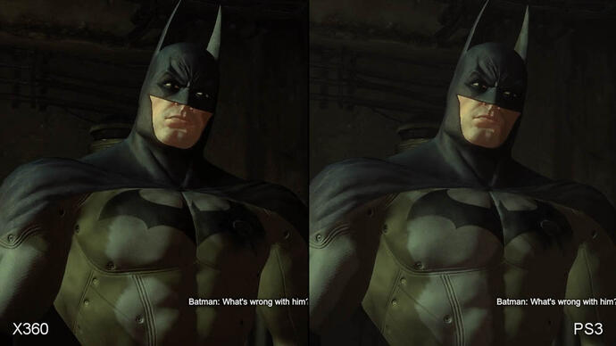 Batman: Arkham City PS3/360 Face-Off video