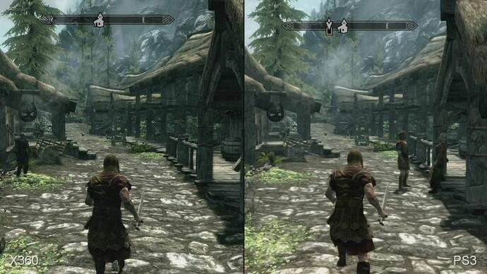 Skyrim Xbox 360 vs. PS3 Face-Off Video