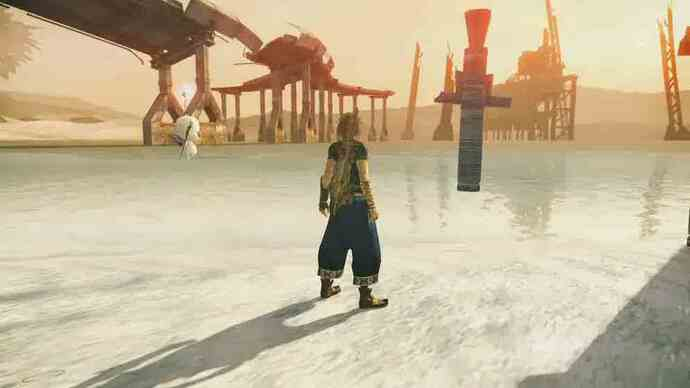 Final Fantasy 13-2 gameplay shows offenvironments