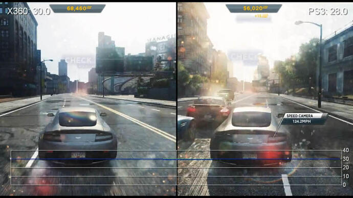 Need for Speed:  Most Wanted Gameplay Performance Video