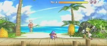 Prinny: Can I Really be the Hero? - Beach gameplay