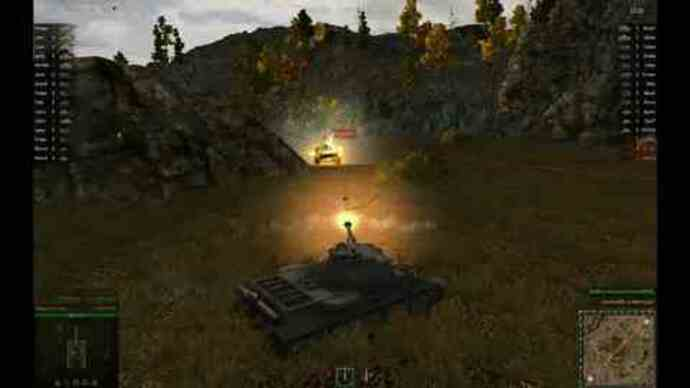 Gameplay footage from World OfTanks