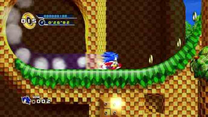 Sonic 4 level 1-1 gameplay