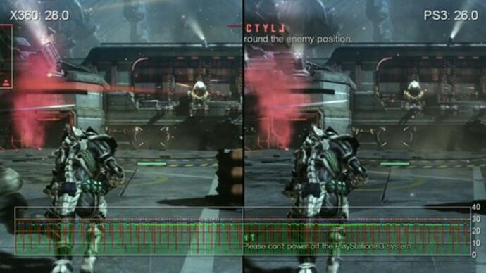 Vanquish PS3/360 gameplay performance