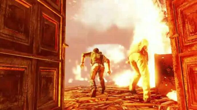 Uncharted 3 mansion inferno gameplay