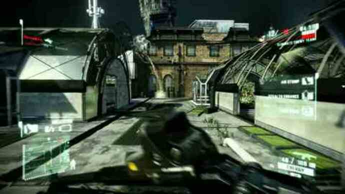 Crysis 2 - PC demo multiplayer gameplay - Skyline level
