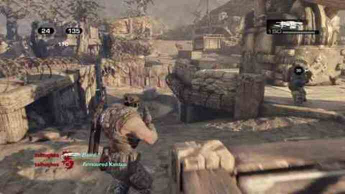 Gears of War 3 beta - King of the Hill gameplay